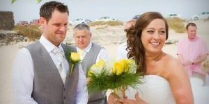 Rocks and Roses Wedding Planners Peter and Gemma El Cotillo beach Fuerteventura 2015
