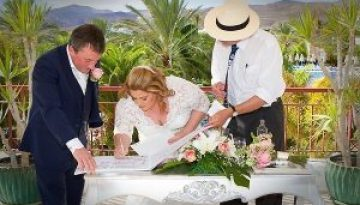 Rocks and Roses Wedding Planners Fiona and Michael Costa Calero Puerto Calero 2017